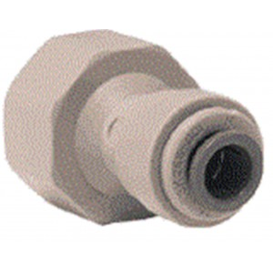 "15mm 1/2"" BSP x 1/4"" Push Fit Connector - John Guest Tap Adapter"