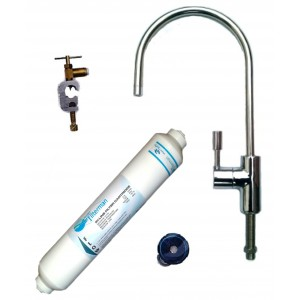 Tap Water Filter System with Modern Swan Neck Chrome Filter Tap