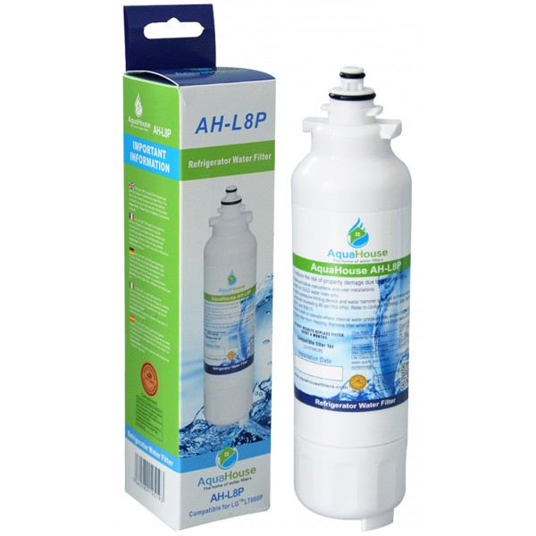 lg refrigerator water filter adq73613401. aquahouse ah-l8p compatible water filter for lg lt800p, kenmore elite 46-9490 lg refrigerator adq73613401