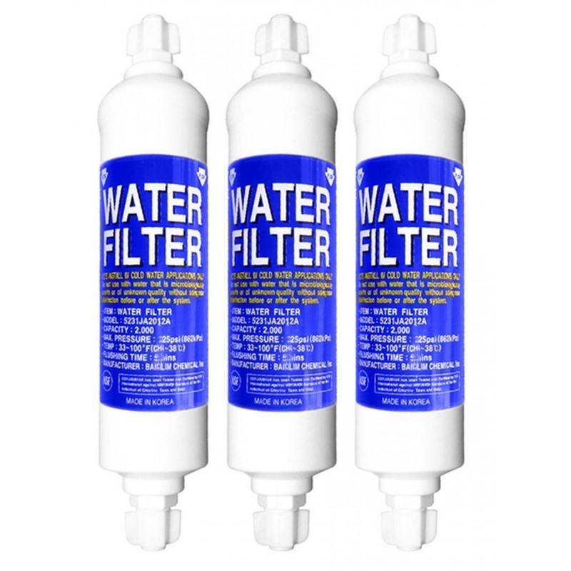 3x LG 5231JA2012B Water filter for 5231JA2012A BL-9808 Refrigerator