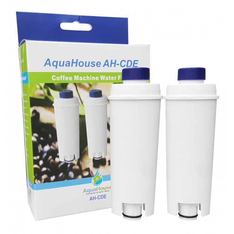 2x AH-CDE Compatible filter for DeLonghi DLSC002, SER3017, 5513292811 Bean to Cup Coffee Maker