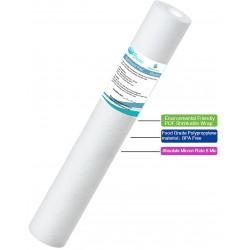 "20"" Sediment water filter cartridge particulate filter - 5 Micron - 20"" x 2.5"" Standard Size"