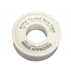 PTFE Tape White - WRAS Approved - 12mm x 12m