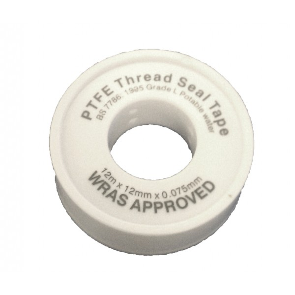 Ptfe Tape White Wras Approved 12mm X 12m Plumbing