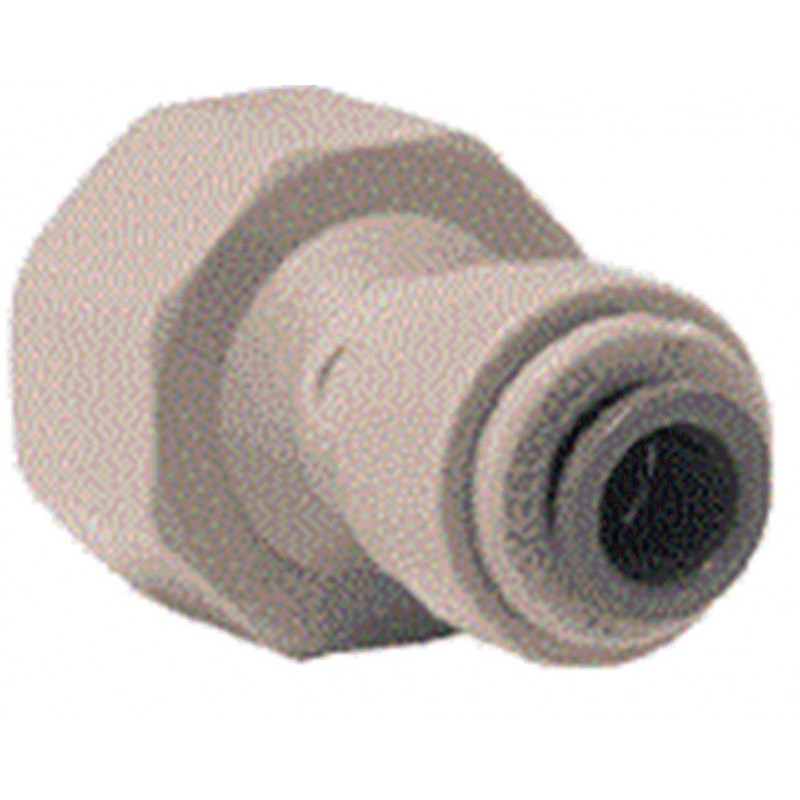 "15mm 1/2"" BSP x 1/4"" Push Fit Connector - John Guest Tap Adapter"