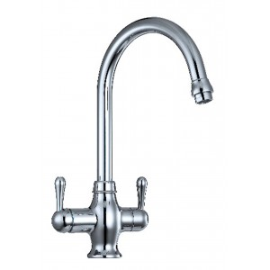 3 Way Kitchen Mixer Tap With Water Filter Lever To Dispense Hot Cold