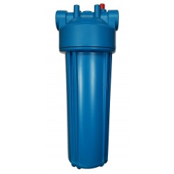 "10"" Water Filter Housing with 3/4"" Ports & PRV, Blue filter housing"