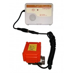 "Water Leak Detector with Automatic Shut-off and leak alarm, 1/2"" BSP 15mm"