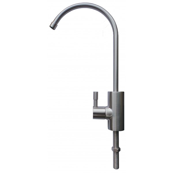 Mini Swan Neck Brushed Steel Drinking Water Filter Tap