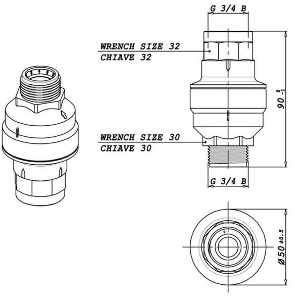 Eltek 100041 Water Block Leak Protection valve 3/4