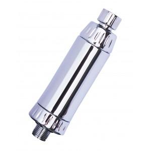 Shower Filter - Chrome In-line KDF Shower Filter Slim Design fits any shower