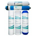 5 Stage Reverse Osmosis Replacement Filter Pack - includes membrane